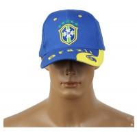 2014 Brazil World Cup Soccer Brazil Blue Snapback Hat