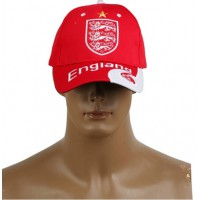 2014 Brazil World Cup Soccer England Red Snapback Hat