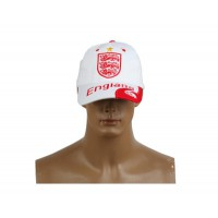 2014 Brazil World Cup Soccer England White Snapback Hat