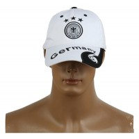 2014 Brazil World Cup Soccer Germany White Snapback Hat