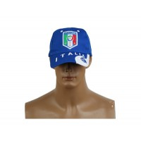 2014 Brazil World Cup Soccer Italy Blue Snapback Hat