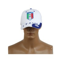 2014 Brazil World Cup Soccer Italy White Snapback Hat