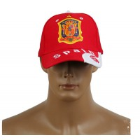2014 Brazil World Cup Soccer Spain Red Snapback Hat