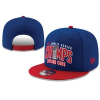 2016 Champions MLB Chicago Cubs World Series Snapback Hats Blue Red