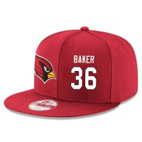 NFL Arizona Cardinals #36 Budda Baker Snapback Adjustable Stitched Player Hat - Red White
