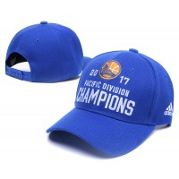 Golden State Warriors 2017 Pacific Division Champions Blue Adjustable Hat