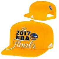 Golden State Warriors Gold 2017 NBA Finals Adjustable Hat