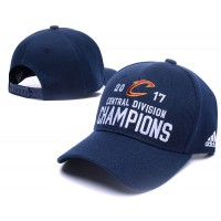 Cleveland Cavaliers 2017 Central Divison Champions Navy Adjustable Hat