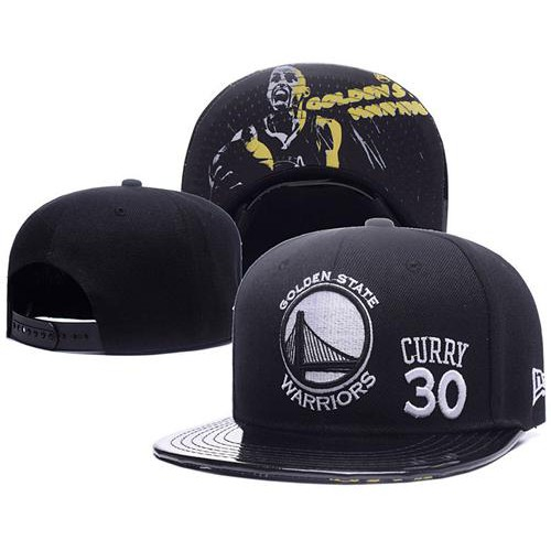 4f5e1de04f3424 NBA Golden State Warriors #30 Stephen Curry Black Stitched Snapback Hat-