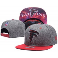 Atlanta Falcons Charcoal Gray Snapback Hats Galaxy UnderBrim