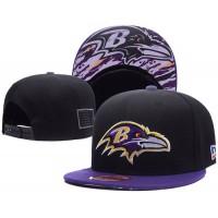 Baltimore Ravens NFL Snapback Hats Sides American flag Logos