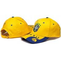 Brazil Yellow Soccer Hat