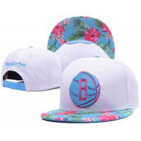 Brooklyn Nets White Out Trop Snapback Hats