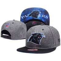 Carolina Panthers Charcoal Gray Snapback Hats Galaxy UnderBrim