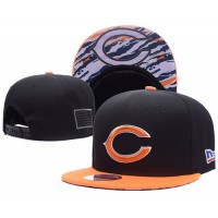 Chicago Bears NFL Snapback Hats Sides American flag Logos