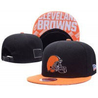 Cleveland Browns NFL Snapback Hats Sides American flag Logos