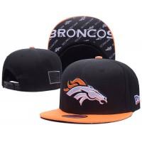 Denver Broncos Black NFL Snapback Hats Sides American flag Logos
