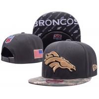 Denver Broncos Camo Style NFL Snapback Hats Sides American flag Logos