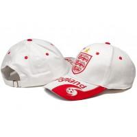 England White Soccer Hat