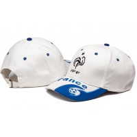French White Soccer Hat