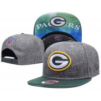 Green Bay Packers Charcoal Gray Snapback Hats Galaxy UnderBrim