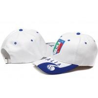 Italy White Soccer Hat