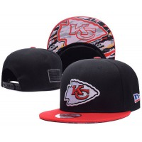 Kansas City Chiefs NFL Snapback Hats Sides American flag Logos