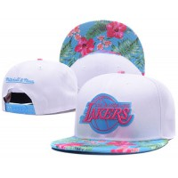 LA Lakers White Out Trop Snapback Hats
