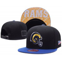 Los Angeles Rams NFL Snapback Hats Sides American flag Logos
