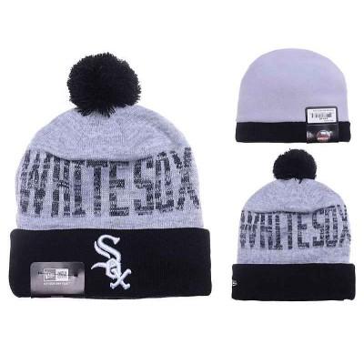 6c78fc7ad41 MLB Chicago White Sox Logo Stitched Knit Beanies 01