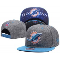 Miami Dolphins Charcoal Gray Snapback Hats Galaxy UnderBrim