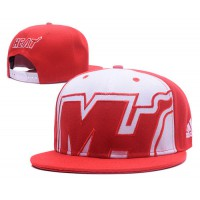 Miami Heat Snapback Hats White Red