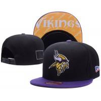 Minnesota Vikings NFL Snapback Hats Sides American flag Logos