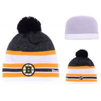 NHL Boston Bruins Logo Stitched Knit Beanies 001