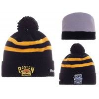 NHL Boston Bruins Logo Stitched Knit Beanies 01
