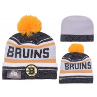 NHL Boston Bruins Logo Stitched Knit Beanies 018
