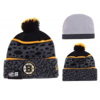 NHL Boston Bruins Logo Stitched Knit Beanies 02