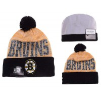 NHL Boston Bruins Logo Stitched Knit Beanies 03