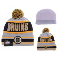 NHL Boston Bruins Logo Stitched Knit Beanies 04