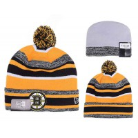NHL Boston Bruins Logo Stitched Knit Beanies 06