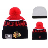 NHL Chicago Blackhawks Logo Stitched Knit Beanies 002