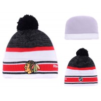 NHL Chicago Blackhawks Logo Stitched Knit Beanies 003
