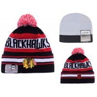 NHL Chicago Blackhawks Logo Stitched Knit Beanies 004