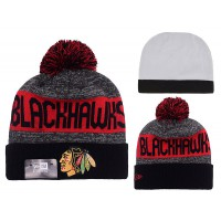 NHL Chicago Blackhawks Logo Stitched Knit Beanies 005