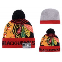 NHL Chicago Blackhawks Logo Stitched Knit Beanies 01
