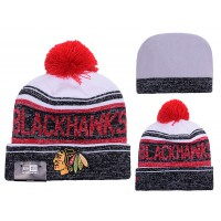 NHL Chicago Blackhawks Logo Stitched Knit Beanies 011