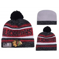 NHL Chicago Blackhawks Logo Stitched Knit Beanies 012