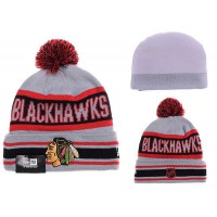NHL Chicago Blackhawks Logo Stitched Knit Beanies 03