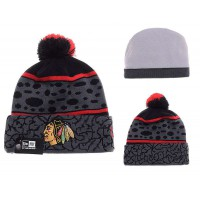 NHL Chicago Blackhawks Logo Stitched Knit Beanies 05