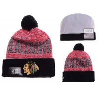 NHL Chicago Blackhawks Logo Stitched Knit Beanies 06